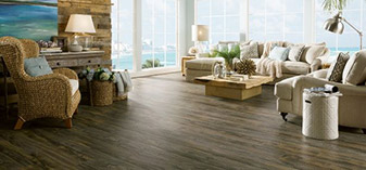 Abbey Carpet & Floor of Harrisburg offers weathered laminate flooring, a new popular product.
